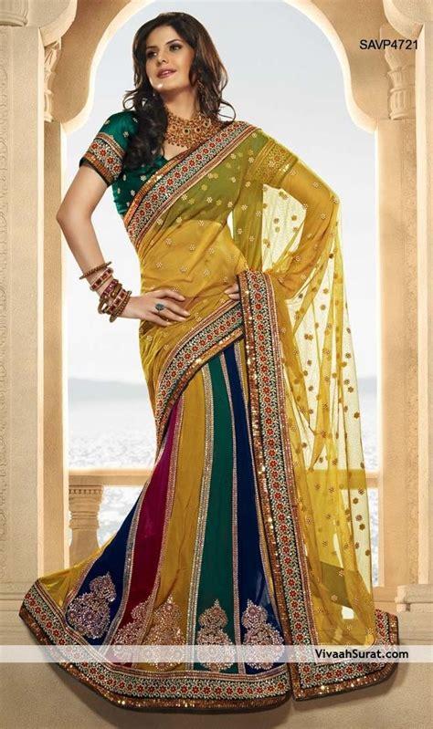 beautiful lehenga style saree savpjpg