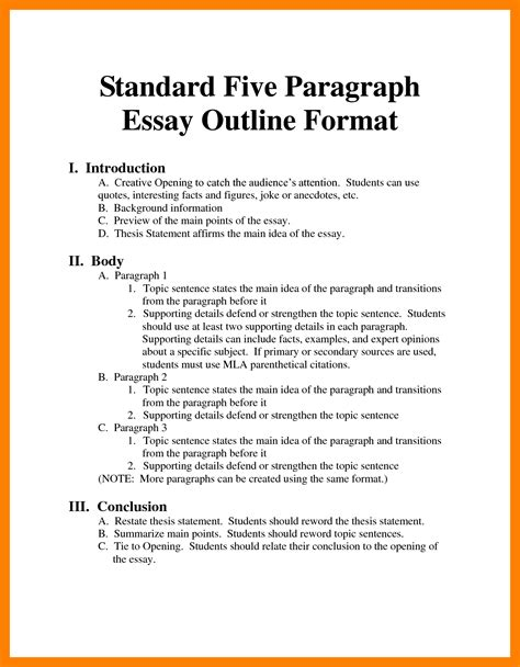 Mla Format Essay Outline Essay On Immigrants Mla Format Research