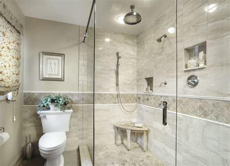 Bahtroom Awesome Bathroom Design With Big Walk In Shower Plus Triangle Teak Stool Bathroom Under