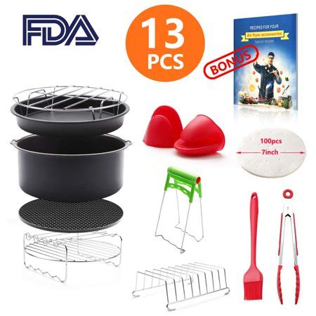 fryer air cookbook accessories power philips cozyna airfryer pieces general 8qt recipe inch gowise 2qt compatible deep usa