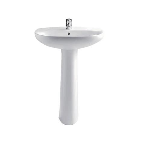 lavabo vasque sur colonne vasque lavabo colonne sur pied 56cm polo zoom pour salle de bains a fixer avec trop plein