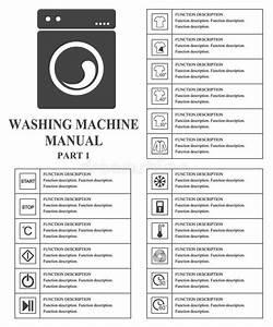 Washing Machine Manual Symbols  Part 1 Instructions  Signs
