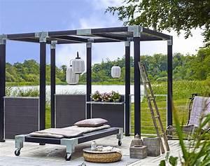 Garten Sichtschutz Modern : garten im quadrat sichtschutz aus wpc zum bau einer ~ Michelbontemps.com Haus und Dekorationen