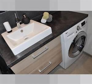 Machine A Laver Murale : meuble vasque machine a laver ~ Dode.kayakingforconservation.com Idées de Décoration