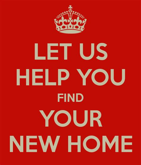 Let Us Help You Find Your New Home Poster Bridgfords