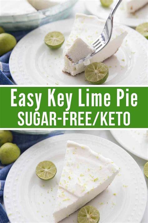 easy sugar  keto key lime pie recipe key lime pie