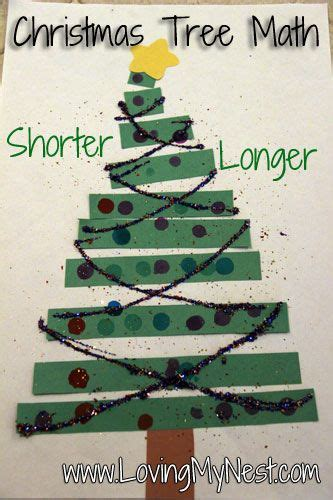 christmas tree math tree math longer and shorter new teachers
