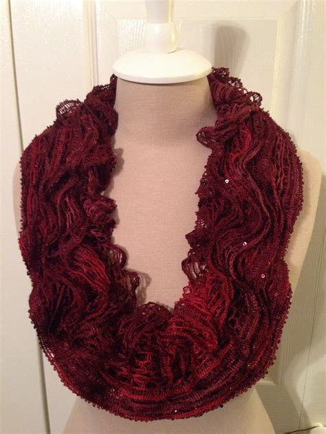 Frilly Crochet Scarf With Sashay Yarn