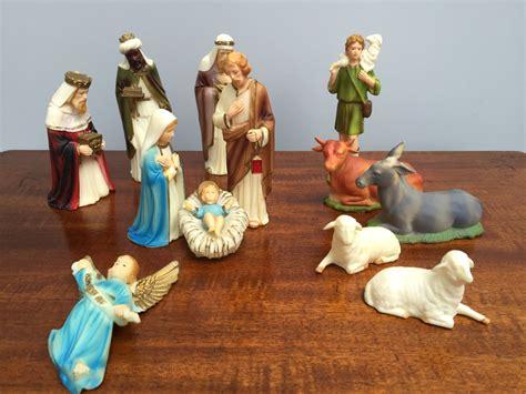 nativity set vintage nativity set christmas nativity baby