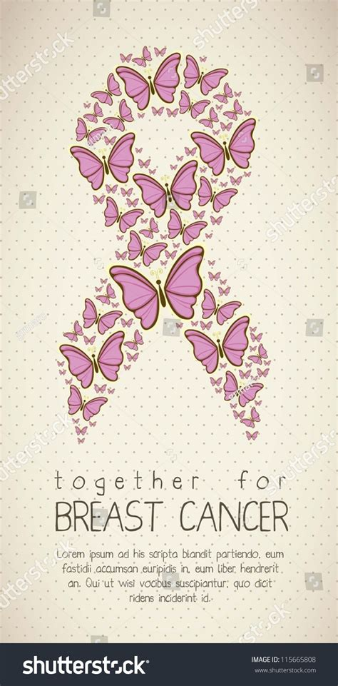 illustration breast cancer butterfly awareness ribbon