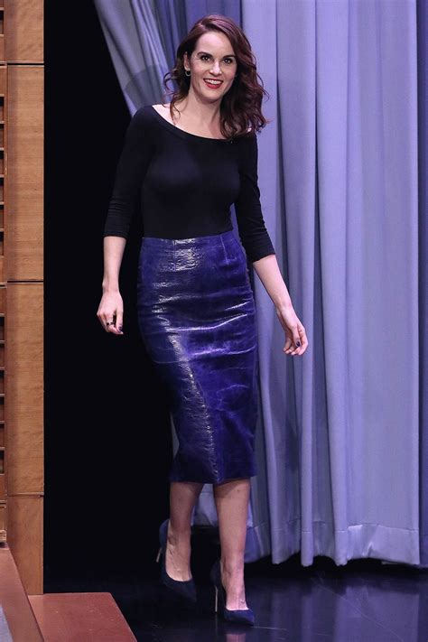 Michelle Dockery at The Tonight Show Starring Jimmy Fallon ...