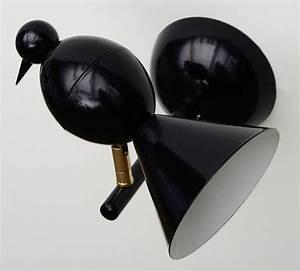 Appliques Murales Noires : applique murale noire design alouette vers la gauche ~ Edinachiropracticcenter.com Idées de Décoration