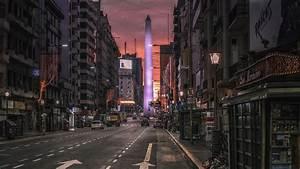 Purple Obelisk (Buenos Aires) HD Wallpaper Wallpaper