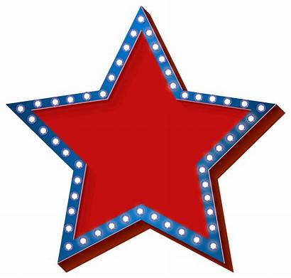 Transparent Star Clip Clipart Lights Patriotic Stars