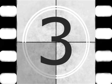 Film Reel 5,4,3,2,1, Countdown-creative Commons Use