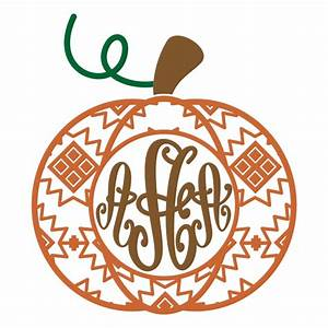 aztec pumpkin svg pictures to pin on pinterest pinsdaddy With monogram pumpkin templates