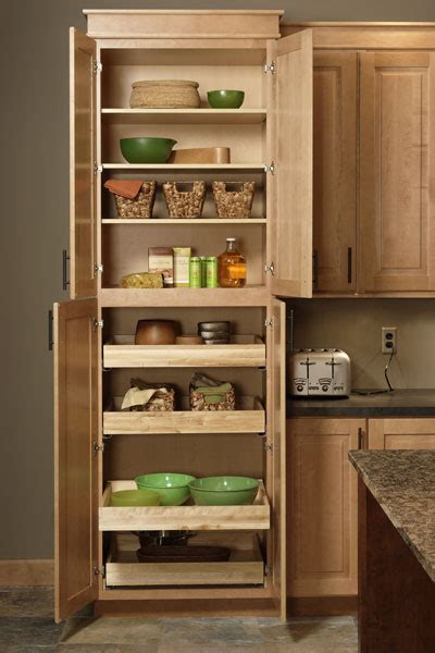 pantry cabinet tall kitchen pantry  pull  shelves