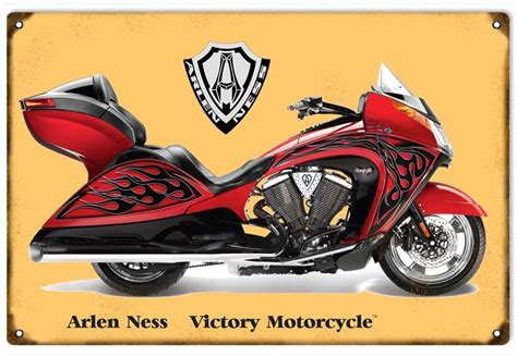 Custom Arlen Ness Victory Motorcycle Sign. 12×18