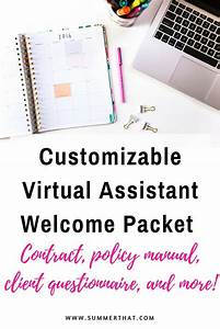 Customizable Virtual Assistant Welcome Packet