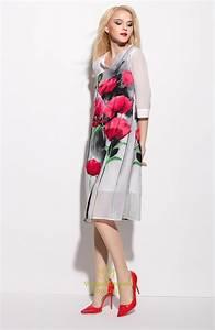 White V Neck Floral Print Summer Dress With 3/4 Length ...