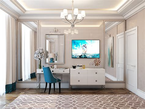 Glamorous Study Areas by The Glamorous American Style Apartment