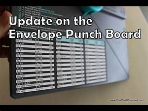 Memory Card Chart Update On The Envelope Punch Board By Wrmk Youtube