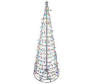 8 pre lit collapsible outdoor christmas tree with led