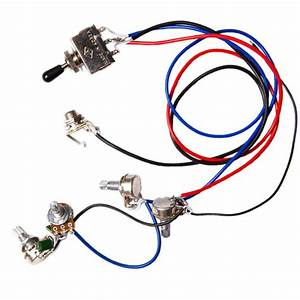 Guitar Wiring Harness Kit 2v2t 3 Way Toggle Switch For Gibson Les Paul Lp Parts For Sale Online