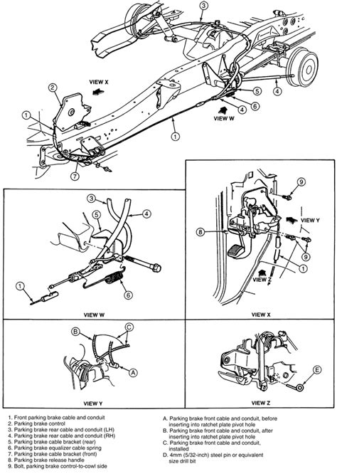 Install Brake Diagram 1987 Nissan Maxima Undercarriage by Parking Brake