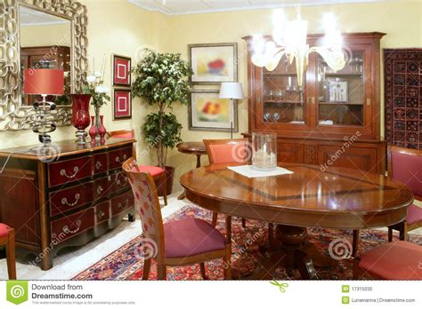 classic living room table warm wood furniture stock image