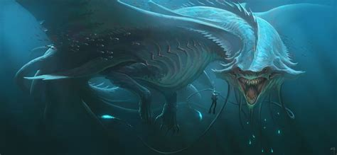 digital art fantasy art creature sea monsters