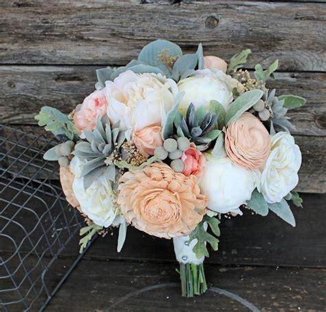sola flower bridal bouquet faux succulents silk flowers