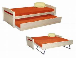Ikea Lit 90x190 : lit gigogne enfant bois massif lit maxime escamotable ~ Teatrodelosmanantiales.com Idées de Décoration
