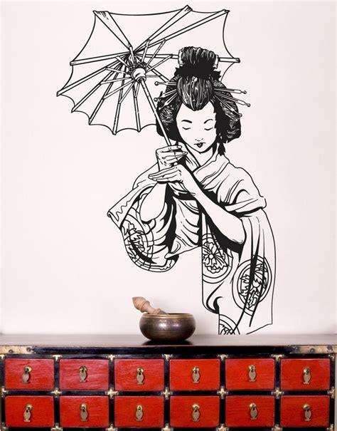 japanese wall stickers geisha wall stickers stickerbrand