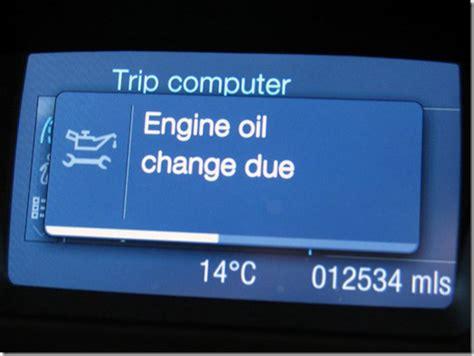 ford focus oil change warning diary   adi