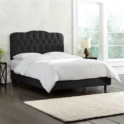 black tufted headboard skyline tufted panel headboard in black 74xxshnblc