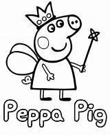 Peppa Pig Coloring Bubakids Creative Colouring Printable Nick Peppapig Cartoon Pigs Jr sketch template