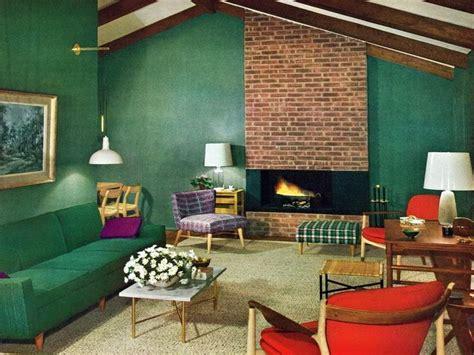 00s Home Decor : 1950s-living-room-mid-century-ideas