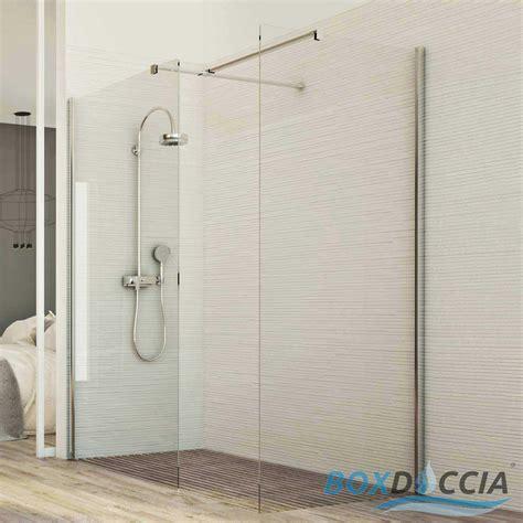 parete doccia walk in box doccia parete fissa 2 lati walk in vetro cristallo