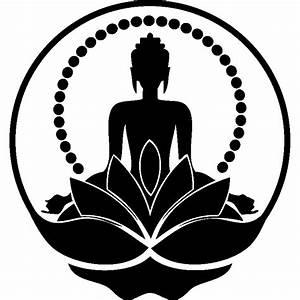 sticker silhouette boudha stickers nature fleurs With tapis chambre bébé avec tapis fleur de lotus nature et decouverte