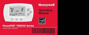 Honeywell Focuspro Th6000 Series Operating Manual