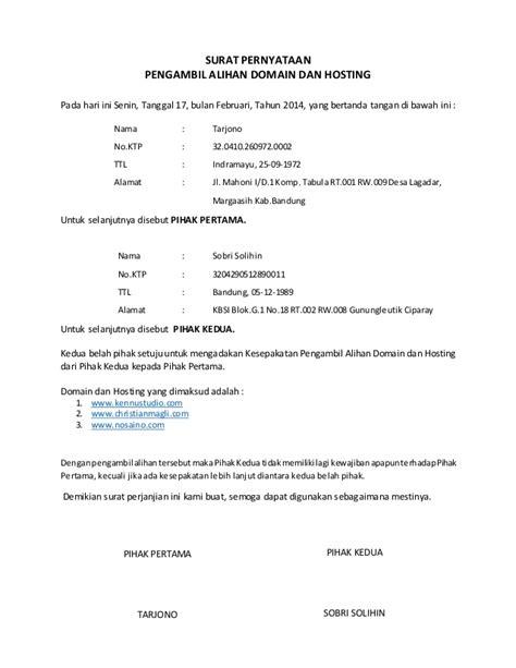 Cara Membuat Surat Pernyataan Kerja by Surat Pernyataan Contoh