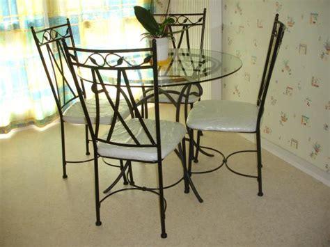 table ronde verre et fer forg 233 prix table ronde verre et fer forg 233