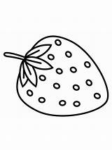 Strawberry Coloring Printable Template Fruits Sheet Berries Getcolorings Getdrawings sketch template