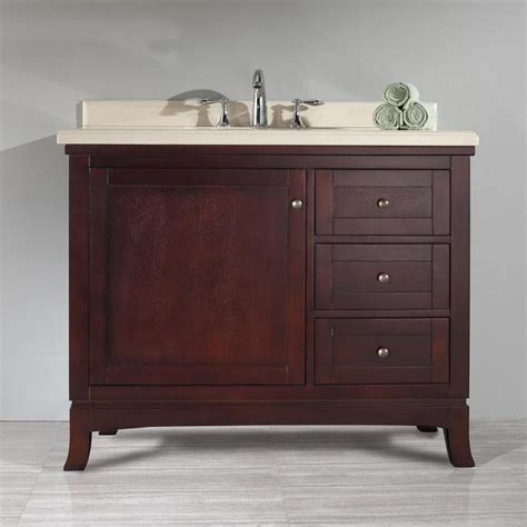 shop ove decors valega tobacco single sink vanity