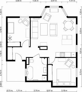 2 bedroom floor plans roomsketcher for Two bedroom layout plan