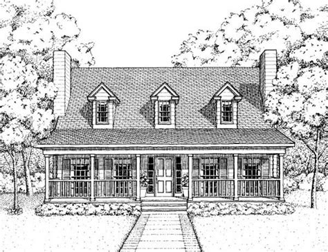 Country Style House Plan 41022 with 3 Bed 3 Bath