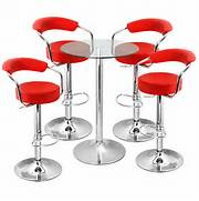 Should Your Bar Stools Match Your Dining Chairs by Zenith Bar Stool And Vetro Table Set Red Drinkstuff