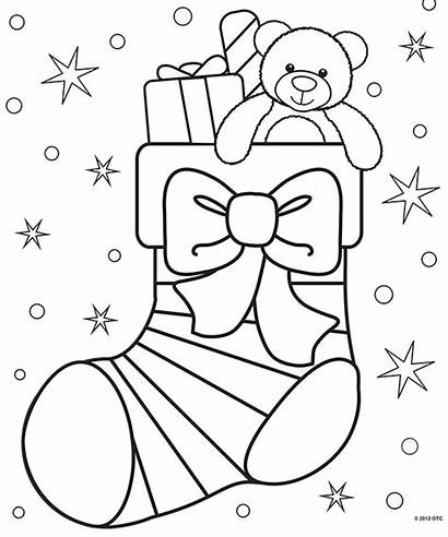 Coloring Christmas Pages Adults Stocking Hristmas Homemade