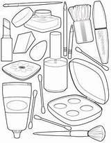 Makeup Coloring Printable Educative Face Barbie Educativeprintable Spa sketch template